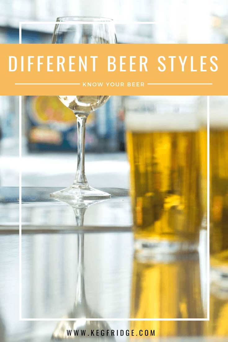 keg fridge - different beer styles - know your beer